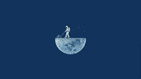P1 Cover Espass space minimalism blue background moon astronaut