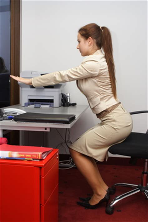 Squatting Desk by 7 Exercises You Can Do At Your Office Membership Fees
