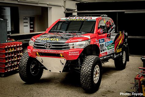 truck rally toyota hilux evo mid engine v8 truck revealed 2017 dakar