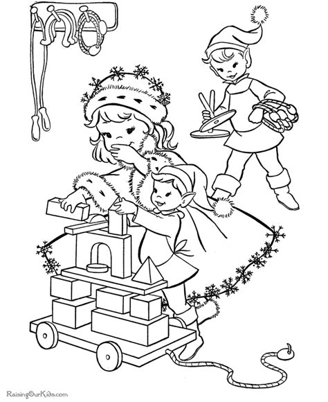 coloring pages elves santa santas elves images new calendar template site