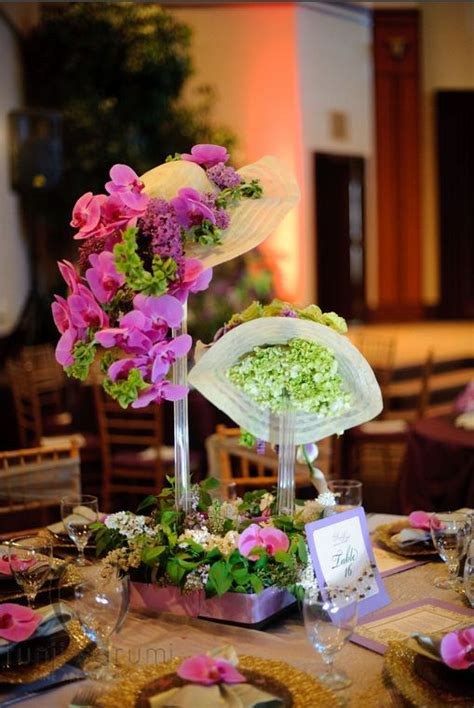 hats filled  flowers  centerpieces great