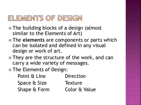 design elements meaning lecture 1 a definition of design its elements and principle