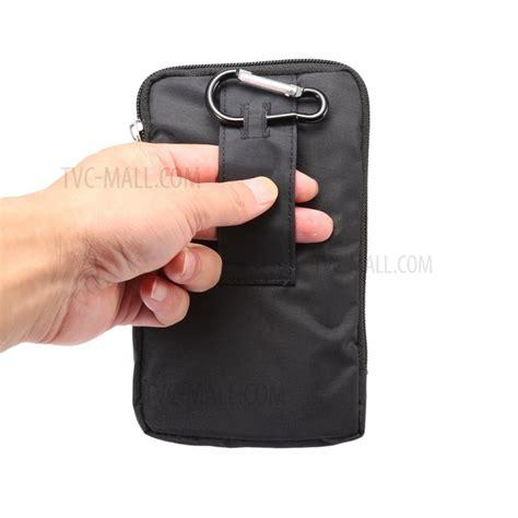 Apple Loop Canvas Iwo Black waterproof canvas hook loop velcro zipper pouch for iphone 7 plus phones 6 4 inch black
