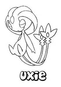 Uxie Pokemon Coloring Pages  For Kids sketch template