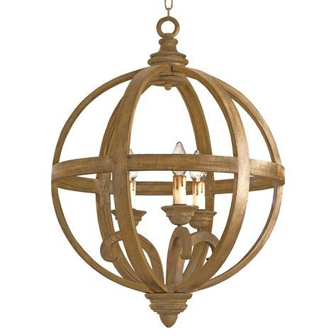 Drexel Curved Wooden Orb 3 Light Chandelier 24 Inch Wood Chandelier Lighting