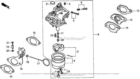 snowblower carburetor diagram honda hs70 ta snow blower jpn vin hs70 1000008 parts
