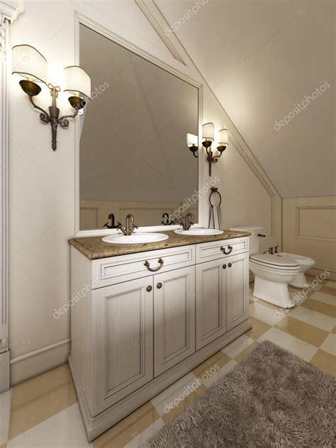 applique bagno specchio lavandino bagno bianco con grande specchio e applique ai