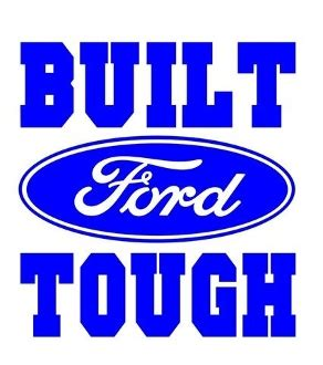 Built Ford Tough Logo by Built Ford Tough Decal Sticker