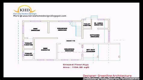 Kerala Style 3 Bedroom House Plans Single Floor Youtube 3 Bedroom House Plan Kerala