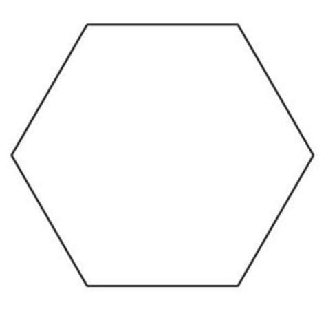 hexagonal template 1 hexagon template