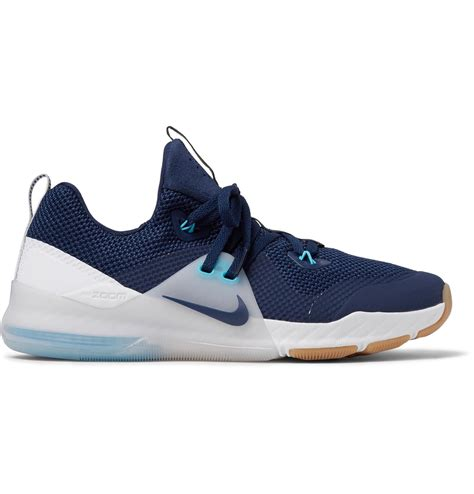 Jual Nike Zoom Command nike zoom command faux suede trimmed mesh trainers in blue for lyst