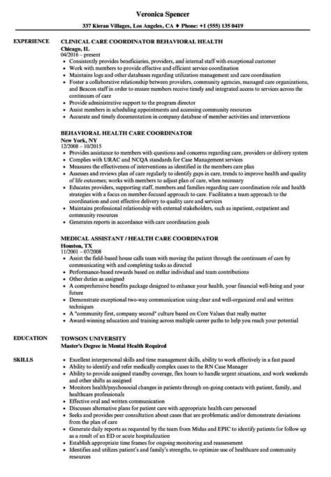 resume format for office coordinator patient care health care coordinator resume sles velvet