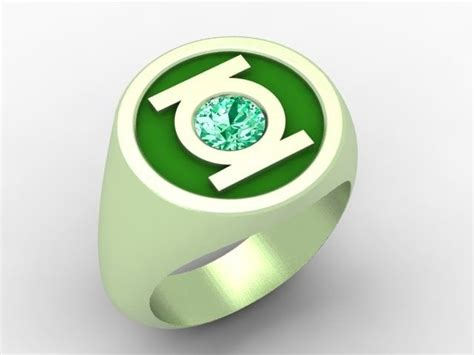 Hand Crafted Green Lantern Ring by Paul Michael Design
