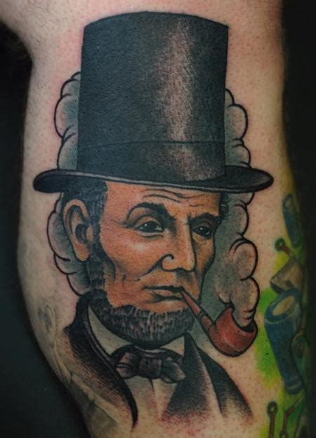 lincoln tattoo abraham lincoln honest abe color leg by jon