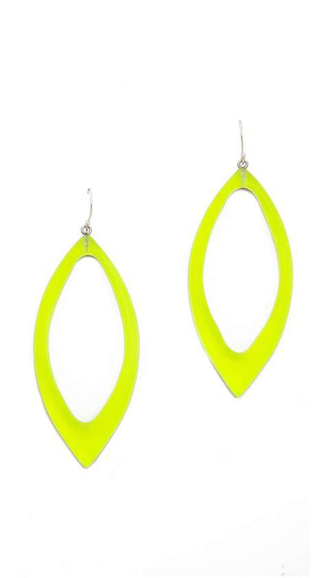 bittar marquis frame dangle earrings neon yellow in