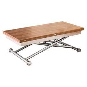 rise extending coffee table walnut dwell