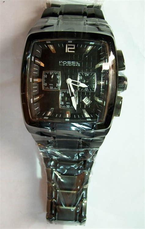 Jam Tangan Pria Fossil Crono Detik Black jam tangan original fossil master chrono square black