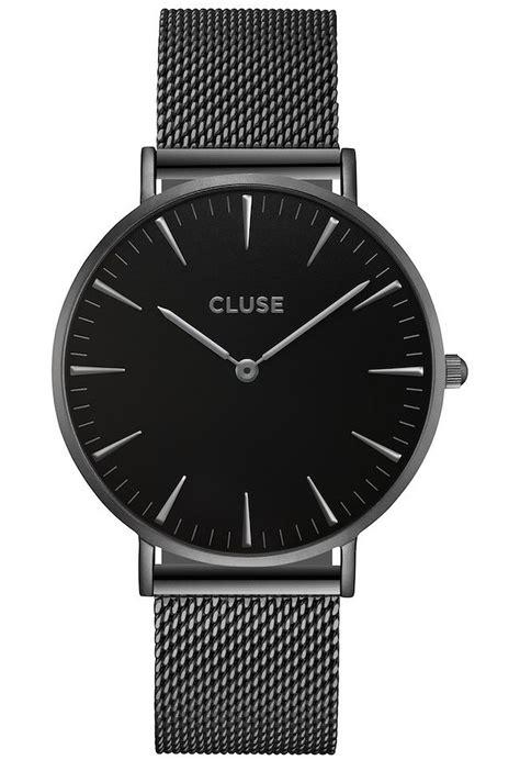 Montre La Bohème Mesh Full Black CL18111 Cluse Noir   Montres & Co