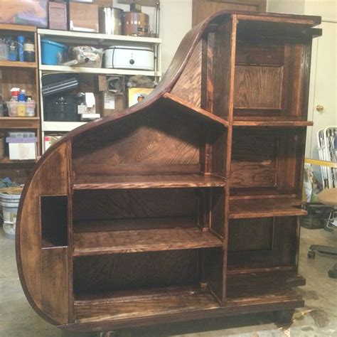 1922 brambach baby grand repurposed as a freestanding