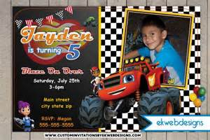 blaze and the monster machines custom photo birthday