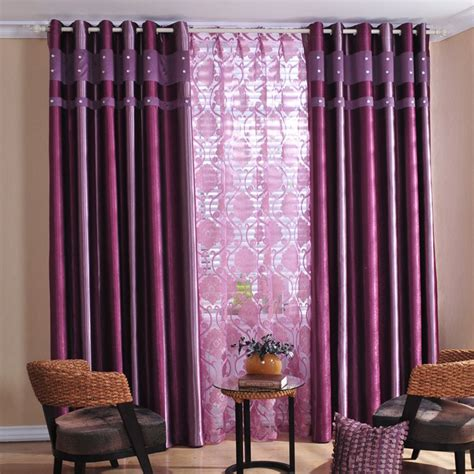 Purple Curtains For Bedroom | attractive printing living room or bedroom curtains in
