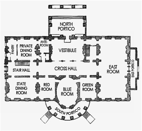 The White House Floor Plan by First Floor White House Museum