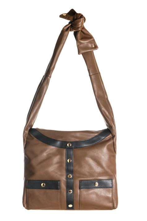 shirts accented shoulder bag with self tie agp