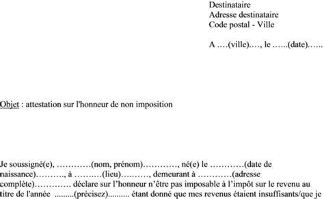 Exemple De Lettre Qui Certifie Sur L Honneur attestation sur l honneur archives