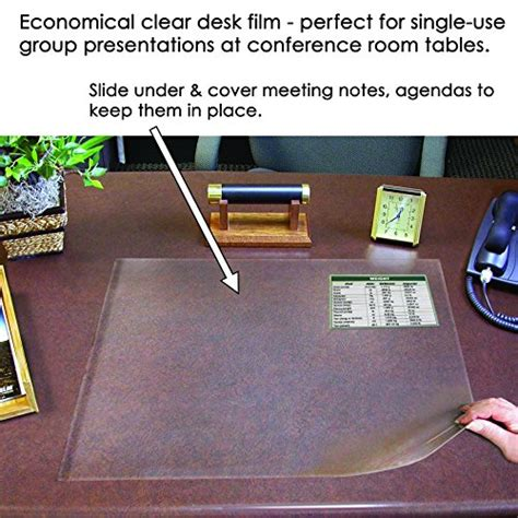 Clear Plastic Desk Cover by 25 Quot X 40 Quot Second Sight Ii Plastic Desk Protector