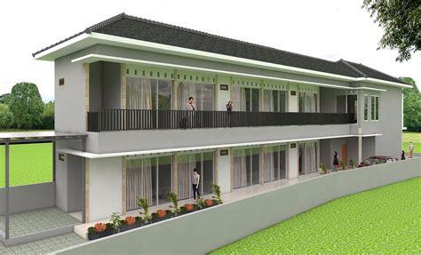 contoh desain rumah kost modern minimalis