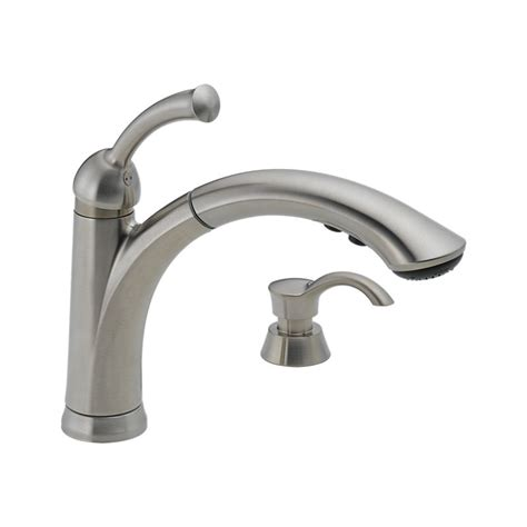 kitchen faucet with soap dispenser 16926 sssd dst lewiston 174 single handle pull out kitchen