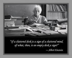 Albert Einstein Desk by Albert Einstein Laminated Print And Quotation On