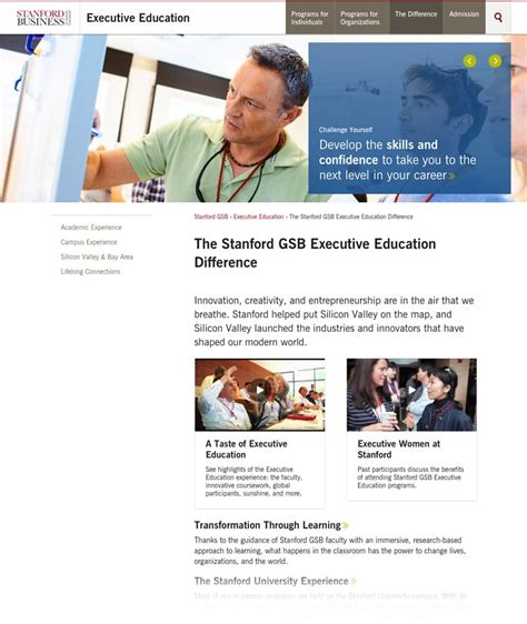 Stanford Mba Application Help by Stanford Gsb The Imagineering Company