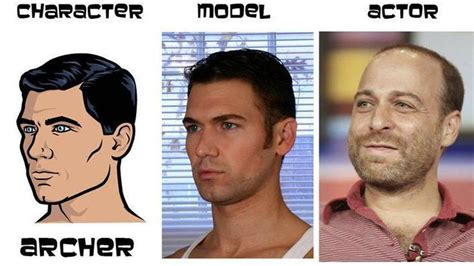 actor comedy voice the characters models and voice actors of archer