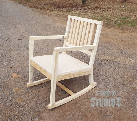 how to build a rocking bench build a rocking chair designs by studio c