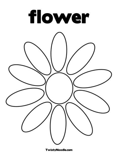 Free Flower 6 Large Petals Coloring Pages Petal Coloring Page