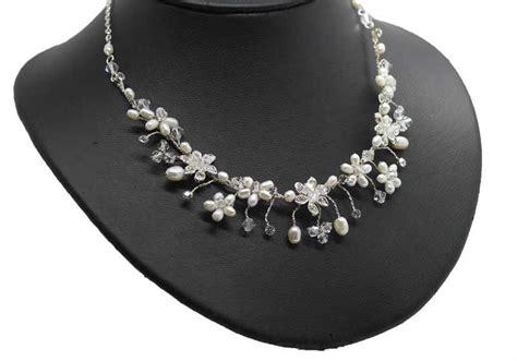 Collier Perlen Hochzeit zur hochzeit brautschmuck mit zuchtperlen als