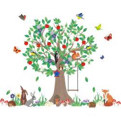 woodland wall stickers woodland tree wall stickers jojo maman bebe