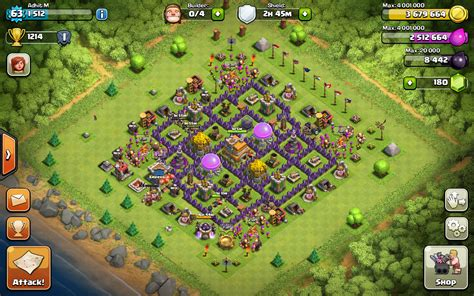 base for town hall 7 emperors of clash of clans february 2014