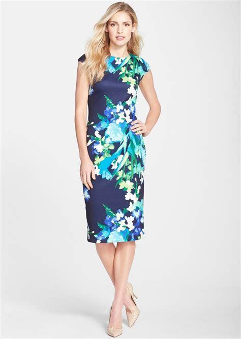 Dress Tyasie Wedges Scuba 81 vince camuto vince camuto floral print scuba midi sheath dress now 82 80 shop it to me