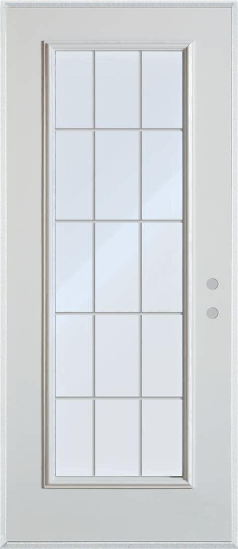 Stanley Doors 34 Inch X 80 Inch 15 Lite Internal Grille 34 Exterior Door