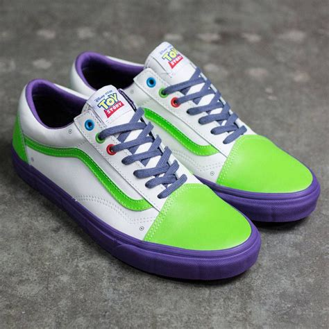 light purple vans skool vans x disney pixar skool buzz