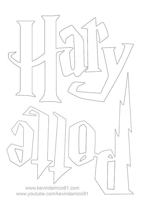 [selezionato] Scritta Harry Potter Da Colorare - Disegni