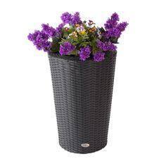 Broyhill Planter by Curved Resin Wicker Vista Planter Wonderous Wicker