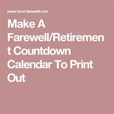 5 year printable retirement countdown calendar calendar