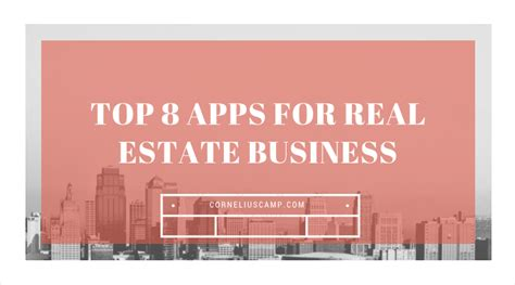 Best Real Estate Mba Schools by Top 8 Apps For Real Estate Business Cornelius C