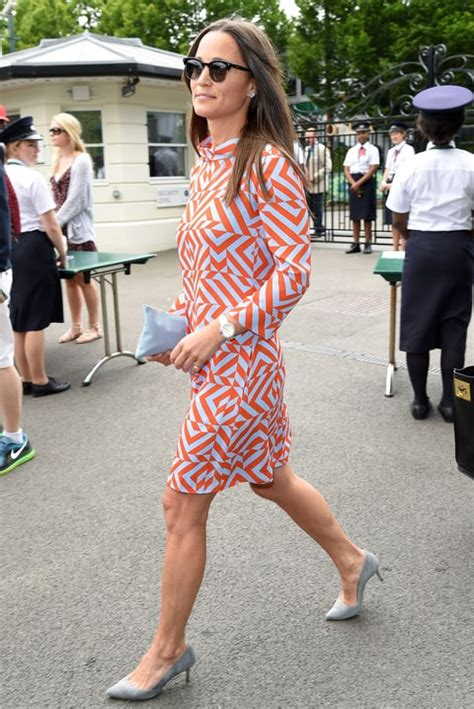 Jaket Federer F4 Royal Blue pippa middleton goes retro in 60s style dress at wimbledon us weekly