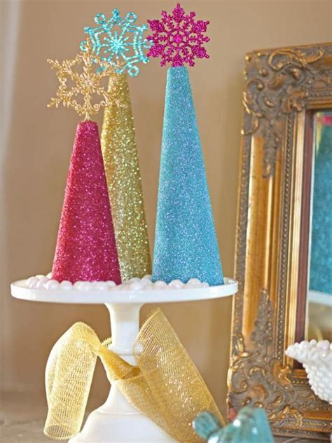 glitter tree centerpiece diy decor for the whole family
