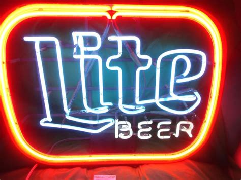 miller lite light up sign 9 best images about neon signs on bar