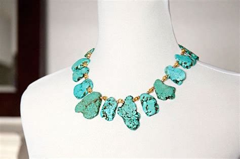 diy bead jewelry golden and turquoise diy statement necklaces 183 how to make